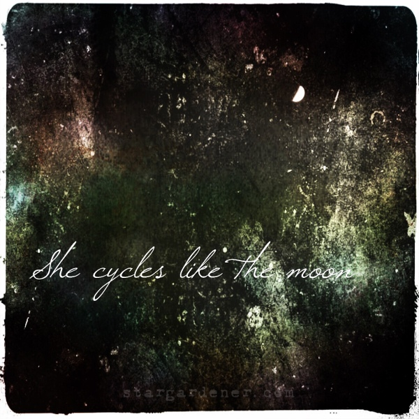 she cycles like the moon
